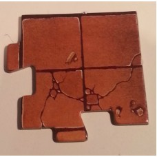 "Advanced Heroquest - Spare pieces: Corner Tile (2x2"") (Used)"