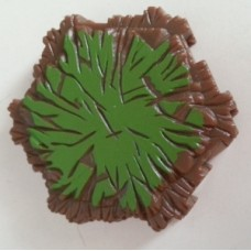 Heroscape: Grass Tile (1 Hex) (Used)