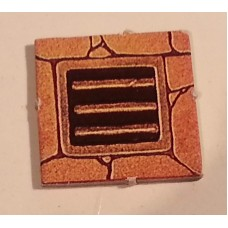 "Advanced Heroquest - Spare pieces: Grate Tile (1x1"") (Used)"