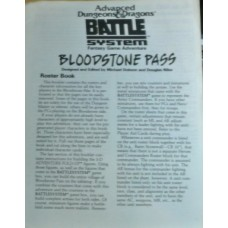 Advanced D&D - Battle System - Bloodstone pass ROSTER BOOK ONLY (Used)