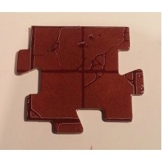 "Advanced Heroquest - Spare pieces: Intersection Tile (2x2"") (Used)"